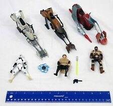 Star Wars Hasbro 3 3/4 Luke & Clone Speeder Bike & Shadows of the Empire Swoop