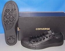 "CONVERSE ""CHUCK TAYLOR"" CT A/S LEA OX in colors BLACK NUBUCK MENS 7 WOMENS 9"