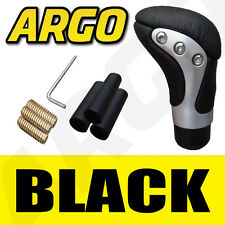 Cromo Negro Cuero Gear Shift palanca perilla Volkswagen Vw Golf Plus Mpv