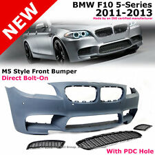 BMW F10 5-Series 11-13 With PDC M5 Style Front Bumper Cover + Side Center Grille