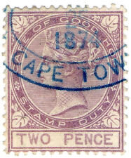 (I.B) Cape of Good Hope Revenue : Stamp Duty 2d (1870)