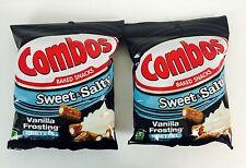 2X New Bags Combos Sweet & Salty Vanilla Frosting Pretzel Baked Snacks, 6oz