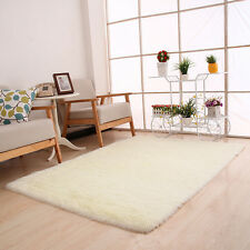 Fluffy Rugs Anti-Skid Shaggy Area Carpet Dining Room Home Bedroom Floor Yoga Mat