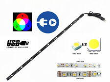 Multi-Colour Changing LED RGB USB Strip Light 5V 1.5W 50CM TV PC Car Van Lorry