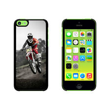 Dirt Bike Off Road Racing Hard Protective Case for Apple iPhone 5C - Black