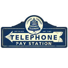 Telephone Pay Station Metal Cut Out Sign