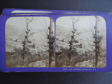 PHOTO  STEREO J.ANDRIEU ITALIE NAPLES VUE GENERALE STEREOVIEW