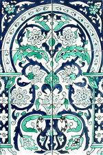 12in x18in ARABESQUE DESIGN ANTIQUE LOOKING MOSAIC TILES CERAMIC WALL MURAL