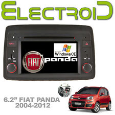 "AUTORADIO 6.2"" WINDOWS CE 6.0 SINGLE 1 DIN SPECIFICA PER FIAT PANDA 2004-2012"