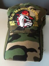 USMC Hat US Marine Corps Devil Dog Cap Camouflage Once A Marine Always A Marine