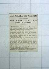 1917 Private Henry Bellamore Duke Of Cornwall's Light Infantry Killed In Action
