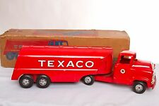 Vintage Pressed Steel Buddy L Texaco Tanker Truck #5803 Toy with Original Box