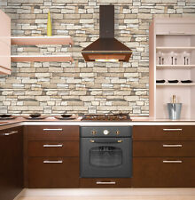 Brick Stone Contact Paper Decorative Countertop Cabinet Self Adhesive Wallpaper