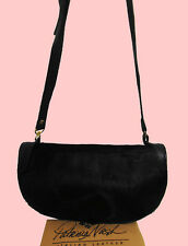 PATRICIA NASH Black Hair Calf PALMA Italian Leather X-Body Bag Msrp $198.00