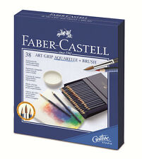 #114238 caja de regalo de 38 Faber-Castell Art Grip Aquarelle Lápices de Color de agua