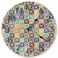 """10.5"""" AIRPLANES PATTERN KIDS CLOCK Large 10.5"""" Wall Clock Home Décor - 3001"""