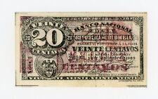 Colombia … P-265 … 20 Centavos … 1900 Serie G … *AU-UNC*
