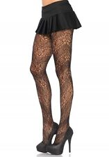 BNWT Sexy Leg Avenue Vine Lace Spiral Tights, Black, One Size