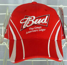 "New, Nascar, Budweiser, ""The Great American Lager""  embroidered hat/cap"