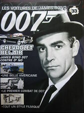 FASCICULE 33 JAMES BOND POSTER CHEVROLET BEL AIR   007 CONTRE DR NO