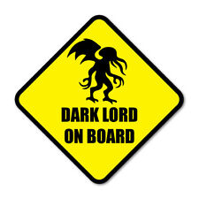 DARK LORD ON BOARD- Cthulhu Funny Monster Car Vinyl Sticker Decal
