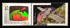 Canada #1441-1442a MNH, Canada in Space Pair of Stamps 1992