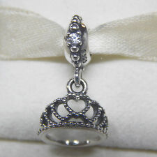 Authentic Pandora 791738CZ Heart Tiara Dangle Bag Included
