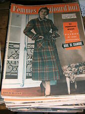 Femmes d'aujourd'hui N° 343 1951 Mode vintage  patrons Couture Broderie Robe