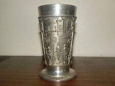 Vintage Feinzinn Fein Zinn German Heavy Pewter Cup Goblet Glass Ges Gesch.