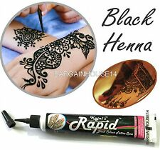1 SOFT SQUEEZE BLAC KHenna Mehendi Paste Cone Tube Tattoo Kit *BUY 2 GET 1 FREE*