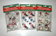 VINTAGE CHRISTMAS MINIATURE WOODEN JOYBRITE ORNAMENTS/PACKAGE DECOR./CRAFT NIP
