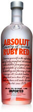 Absolut RUBY RED VODKA 1 Litre (grapefruit) Absolute-ly EMPTY BOTTLE