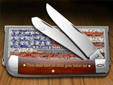 CASE XX 1st Commandment Chestnut Bone Trapper 1/500 Pocket Knife Stainless