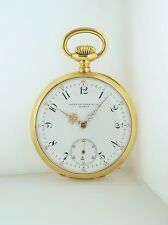 Patek Philippe Pocket Watch Engraved 18K Yellow Gold Circa1891 w/COA $15K VALUE