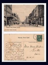 CANADA ONTARIO WINDSOR SANDWICH ST 1906 TO MRS MAY WILSON OF SCOTIA, MICHIGAN