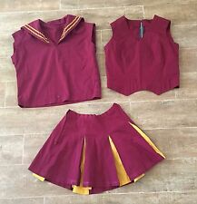 S vintage Cheerleader 3 pc outfit top skirt cheerleading majorette small red