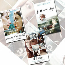 Gayle Forman's If I Stay,Where She Went, Just One Day 3 Books Collection In AU