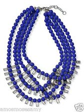 NWOT Banana Republic Tutti Frutti Bauble Necklace Jewelry Blue Strand $79 NEW