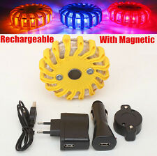 Rechargeable LED With Magnetic Car Emergency Flash Lighting Warning Strobe Light