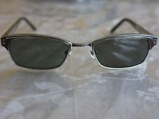 Leisure Society Yale Women's Black and Silver Sunglasses 50-18-140 MADE IN JAPAN
