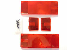 "Tail Lamp Replacement Lens Set - Over 80"" Low Profile 102641 - Wesbar 403336"