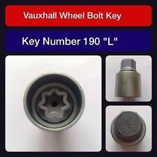 "Genuine Vauxhall Locking Wheel Bolt / Nut Key 190 ""L"""