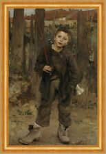 Pas MECHE, Nothing doing Jules Bastien-Lepage Angel Enfants Garçon bouèbe B a3 02726