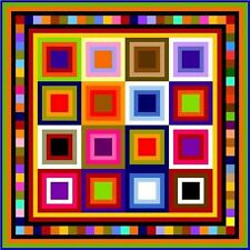 """QUIBBLING - 57"""" - Pre-cut Quilt Kit by Quilt-Addicts Lap size"""