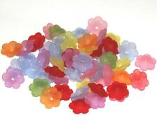 Bulk 600 pcs  Assorted colors frosted acrylic flower beads