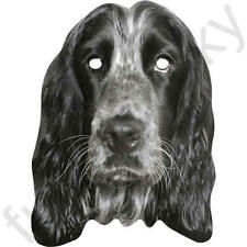 English Cocker Spaniel Dog Celebrity Animal Card Face Mask.All Masks Are Pre-Cut