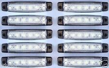 10 pezzi x 12V 6 LED Luci Indicatore Laterale bianco per Iveco Volvo Daf Scania