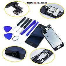 IPhone 5S FULL Screen Digitizer Assembly Replacement LCD + Camera + Home Black