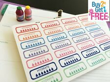 PP128 -- Hydrate Weekly Label Planner Stickers for Erin Condren (28pcs)