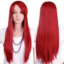 US Ombre Ladies Wig Long Straight Curly Full Head Wigs Cosplay Party Fancy Dress